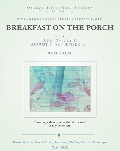 Breakfast on the Porch Poster 2014
